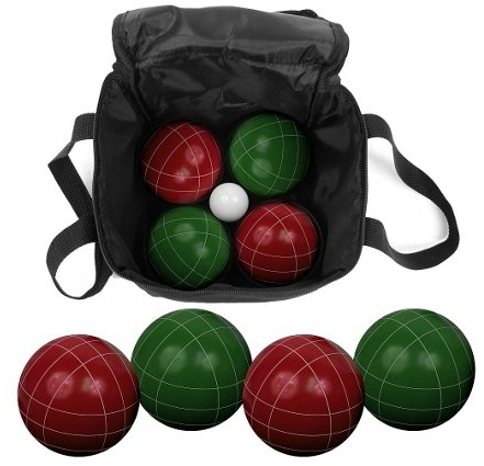 9-Piece Bocce Ball Set, Green/Red | One Kings Lane