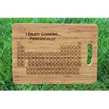 'Periodic Table of Elements (I Enjoy Cooking...Periodically)' - Personalised & Engraved Chopping Board