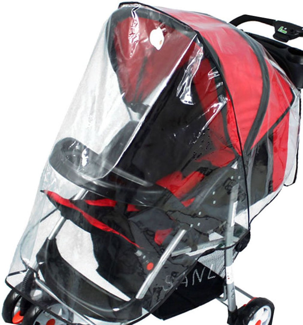 Rain, Wind, Snow Resistant Waterproof Transparent Baby Stroller Carriage Cover