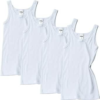 HERMKO 2800 - Juego de 4 camisetas interiores para niño (más colores) de algodón orgánico