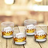 Personalized Lowball Whiskey Glasses - Monogrammed Lowball Whiskey Glasses - Set of 4