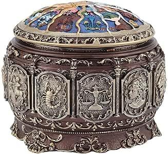 Simlug Caja de música Vintage, 12 Constelaciones, Caja de Diosa Musical giratoria con Regalo de Twinkling Light para cumpleaños(Libra): Amazon.es: Hogar