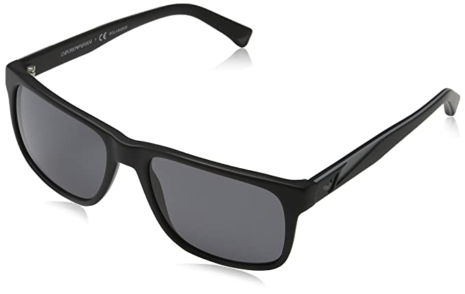 Emporio Armani 4071 Gafas de sol, Matte Black 504281, 56 ...