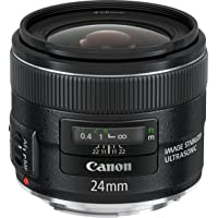 Canon EF 24mm f/2.8 IS USM - Objetivo para Canon (Distancia Focal Fija 24mm, Apertura f/2.8-22, estabilizador, diámetro: 58mm) Negro