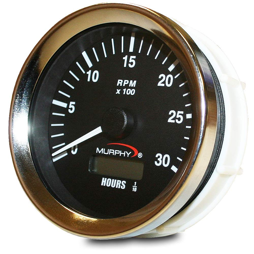 20700249 Murphy by Enovation Controls ATH-30 12//24 VDC Analog Tachometer//Hourmeter
