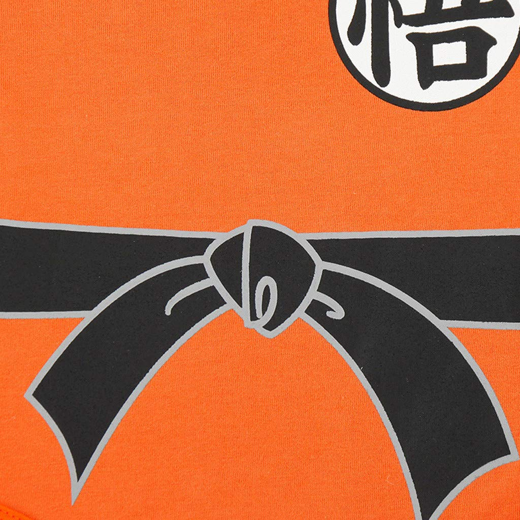 Lonshell Kinder Jungen M/ädchen Strampler Dragon Ball Anime Cosplay Outfits mit Per/ücke f/ür 0-18 Monate Neugeborenes Baby Spielanzug Bodysuit Einteiler Spieler Kurzarm Overall Babybodys