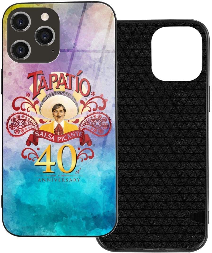 Tapatío Hot Sauce Apple 12 Glass Phone Case is Not Easy to Touch Fingerprints and Hand Sweat, Easy to Clean, Full Score and Anti-Drop