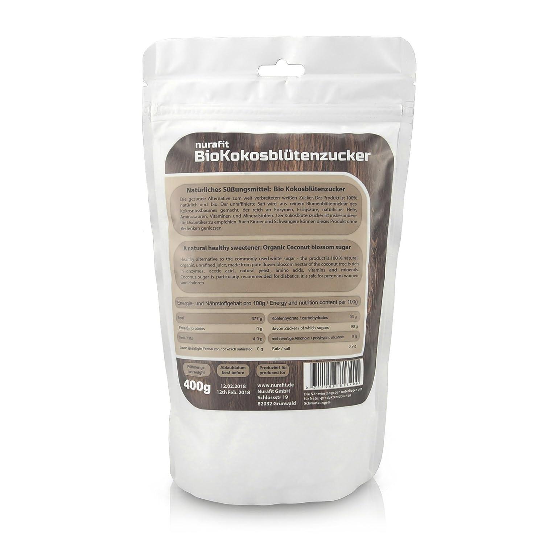 nurafit bio Coco Flores Azúcar, Azúcar Natural para certificados de punta | con alto contenido en Nutrientes | Calidad: Amazon.es: Salud y cuidado personal