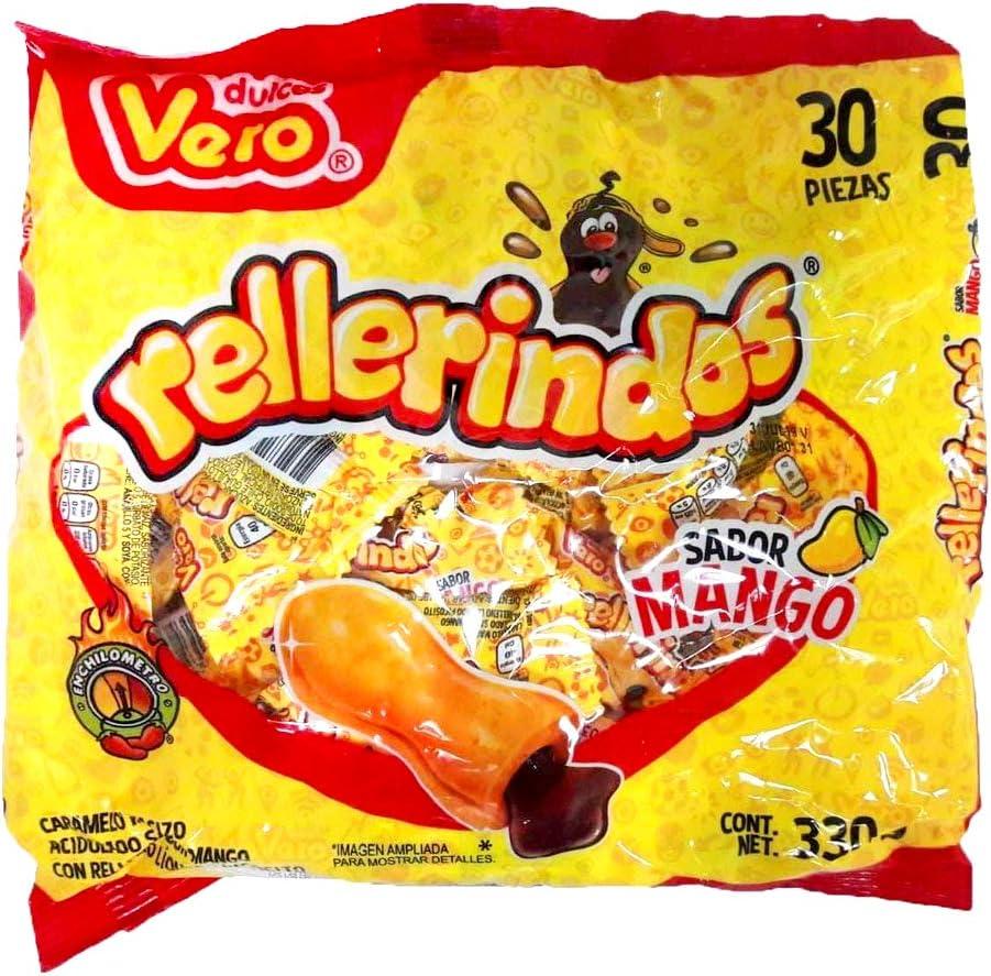 Caramelo Mexicano Rellenerindo Mango | 30 Piezas | Sabor Mango: Amazon.es: Alimentación y bebidas