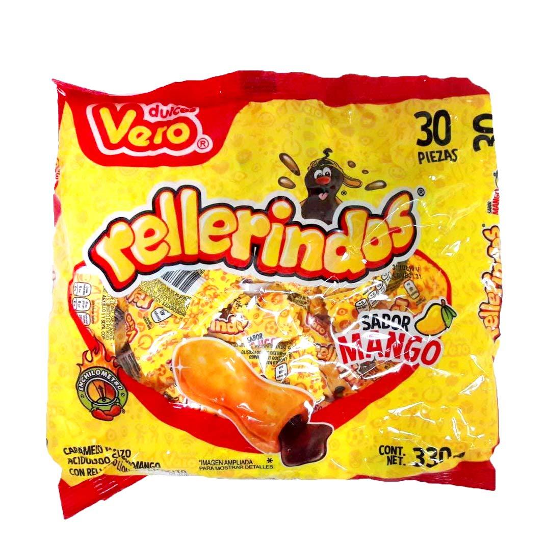Vero Mexican Candy Rellenerindo Mango | 30 Pieces | Mango Flavor