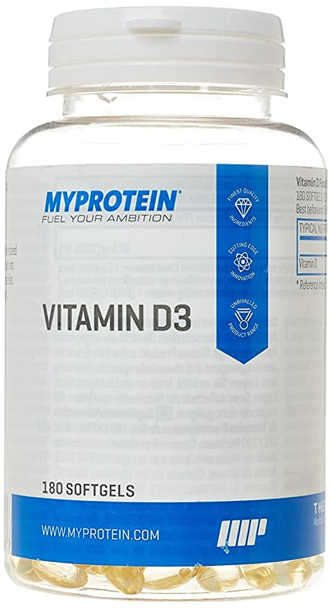 MyProtein Vitamina D3-180 Cápsulas