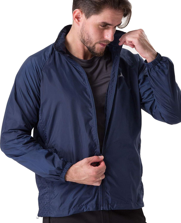 U.mslady Clothin メンズ 軽量 アスレチック フード付きジャケット スポーツ ランニング 旅行用 B07N7C1GM5 Blue-#13006 X-Large X-Large|Blue-#13006