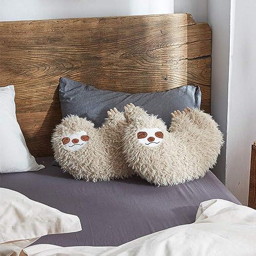 Huhu Ma 16 Sloth Pillow, Animal Pillow Man s Smiling face