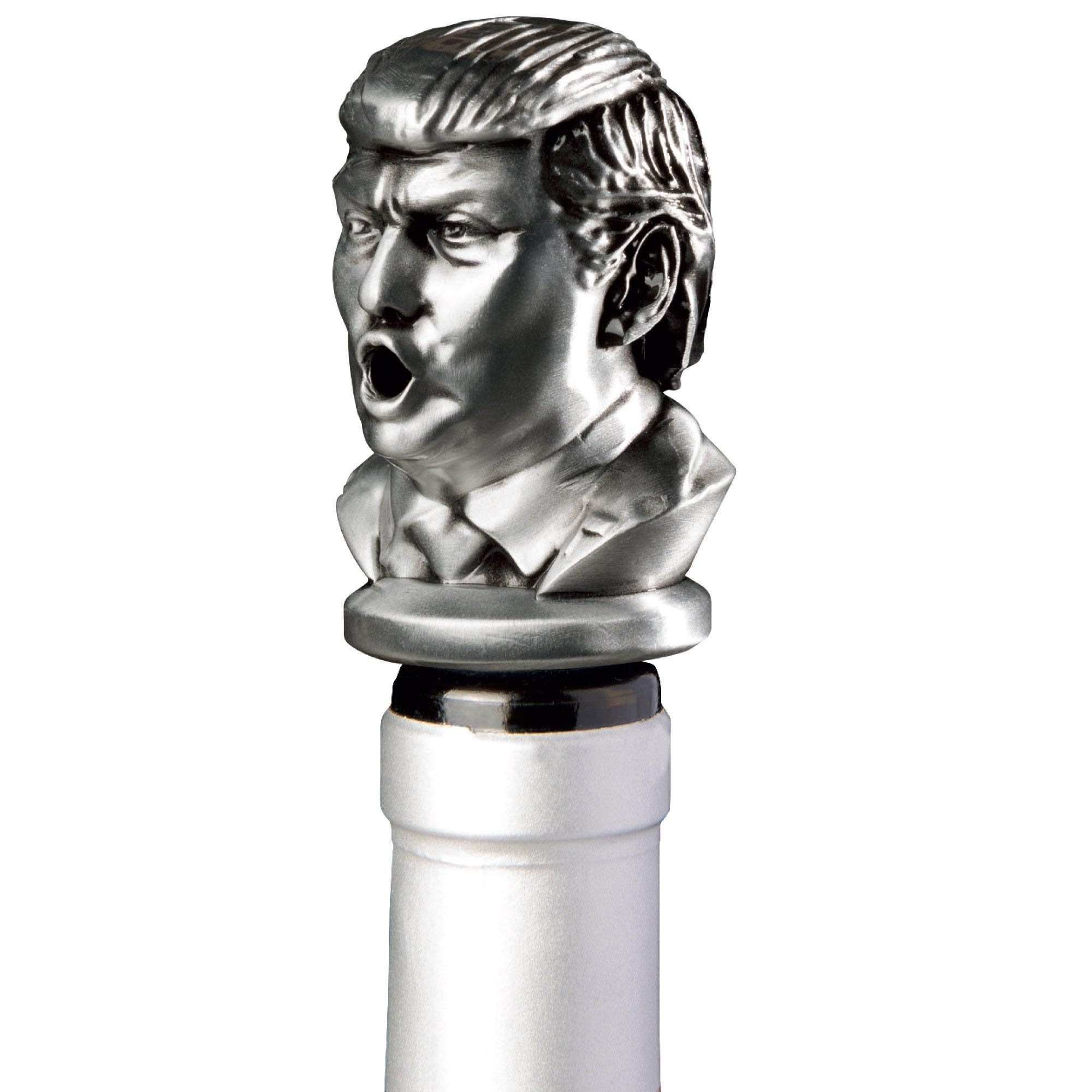 Stainless Steel Trump Wine Aerator Pourer - Deluxe Decanter Spout for Robust Red and White Wine - Pour Amore Bottle Pourer/Stopper & Air Diffuser by Chris's Stuff by Chris's Stuff