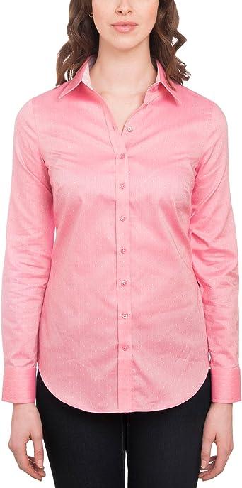 HAWES & CURTIS - Camisa de algodón semiajustada para mujer, color rosa Rosa rosa 34: Amazon.es: Ropa y accesorios