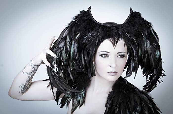 Amazon Com Fallen Angel Feather Headpiece Black Halloween
