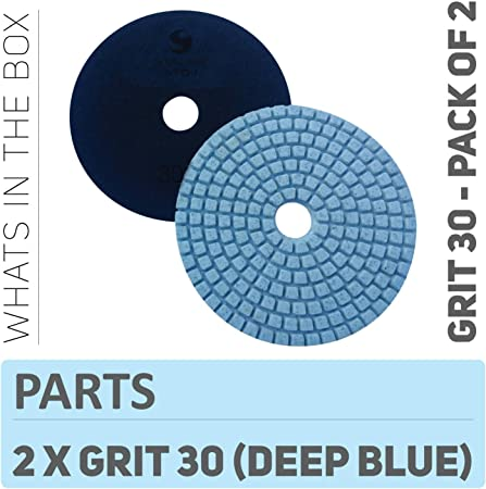 Stadea Ppw118d Concrete Sanding Polishing Pads 4 Inch Grit 30
