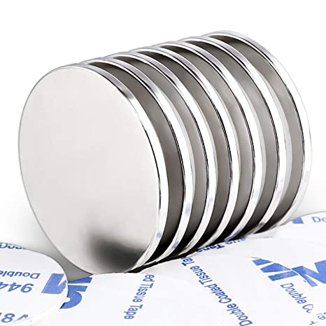 Scientific and Craft Cup Magnets,1.26D x 0.3H Building Pack of 6 FINDMAG Neodymium Round Base Magnet with Mounting Screws Permanent Rare Earth Magnets 90LBS Strong DIY