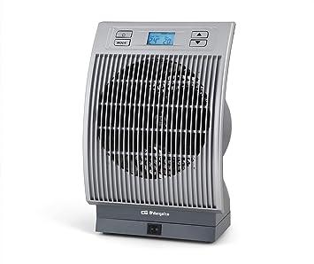 Orbegozo FH 6036 – Calefactor eléctrico con movimiento oscilante, pantalla digital LCD, 2200 W