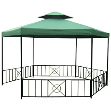 Gartenpavillon metall eckig  Amazon.de: Pavillon SIENA 6-eckig, Stahlgestell schwarz, Dach ...
