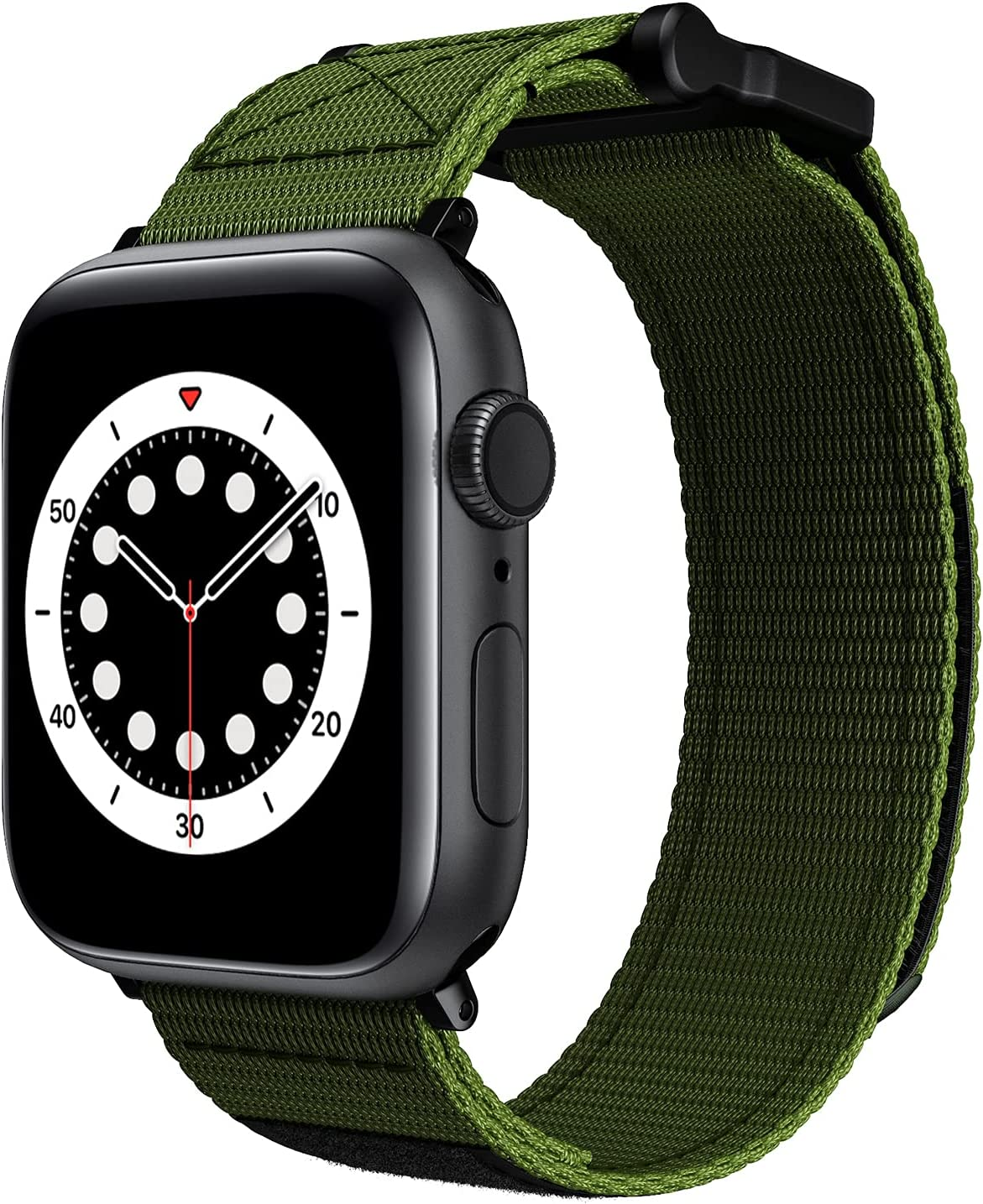 Velcro Watch Band for Apple Watch 42/44mm Men Sport Loop Nylon Adjustable Woven Bands Replacement Strap for Iwatch 42/44mm(Army Green)