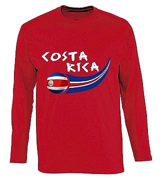 Supportershop - Camiseta Costa Rica L/S para Hombre, Rojo, FR: XL (Talla Fabricante: XL): Amazon.es: Deportes y aire libre