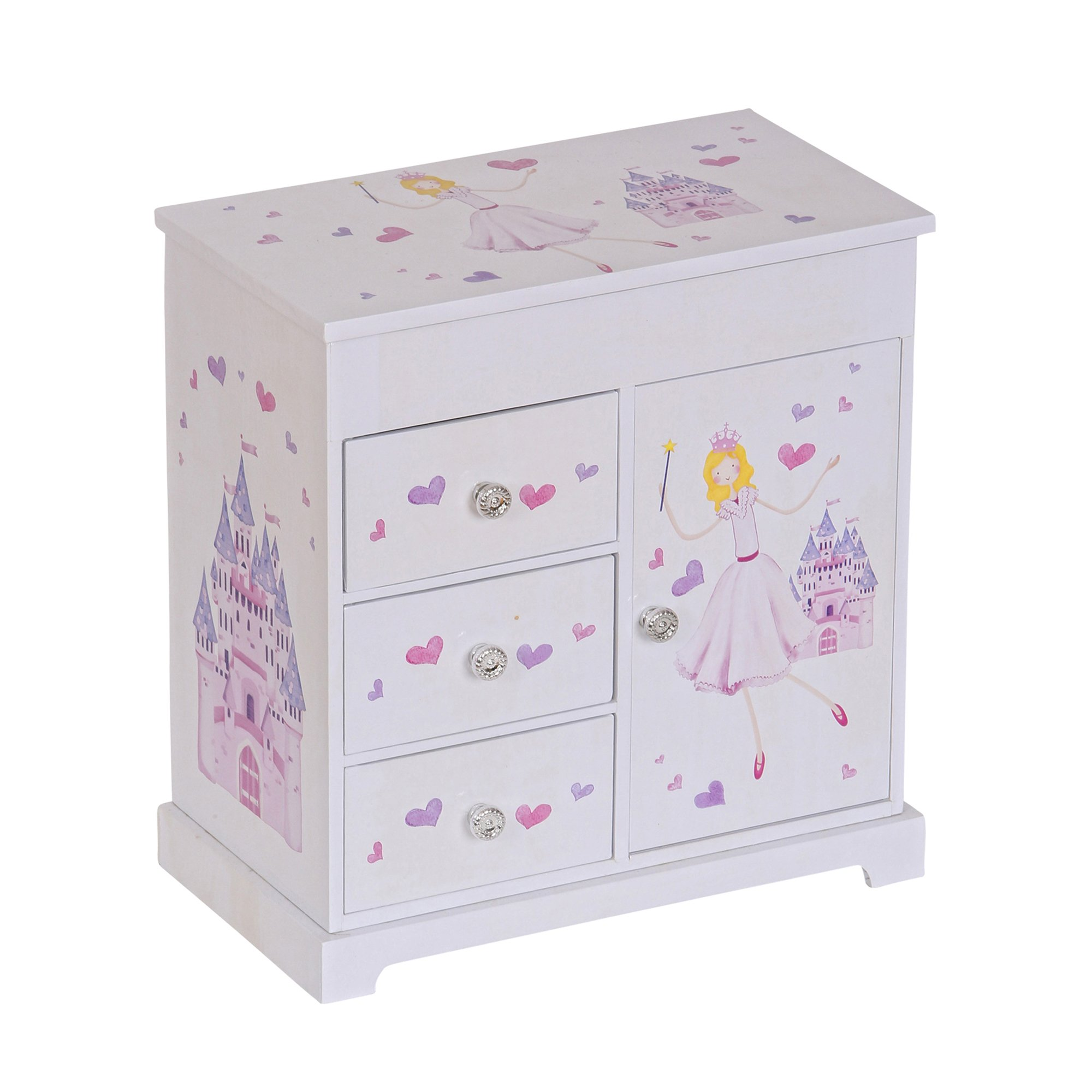 Mele & Co. Adalyn Girl's Musical Ballerina Jewelry Box (Castle & Fairy Princess Design)