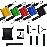Exercise Resistance Bands Set, [Up to 150 lbs] TOPELEK Fitness Stretch Bands Workout Resistance Tube Straps for Men Women, Shoulder, Legs, Arm and Glutes Ideal for Physical Therapy, Strength