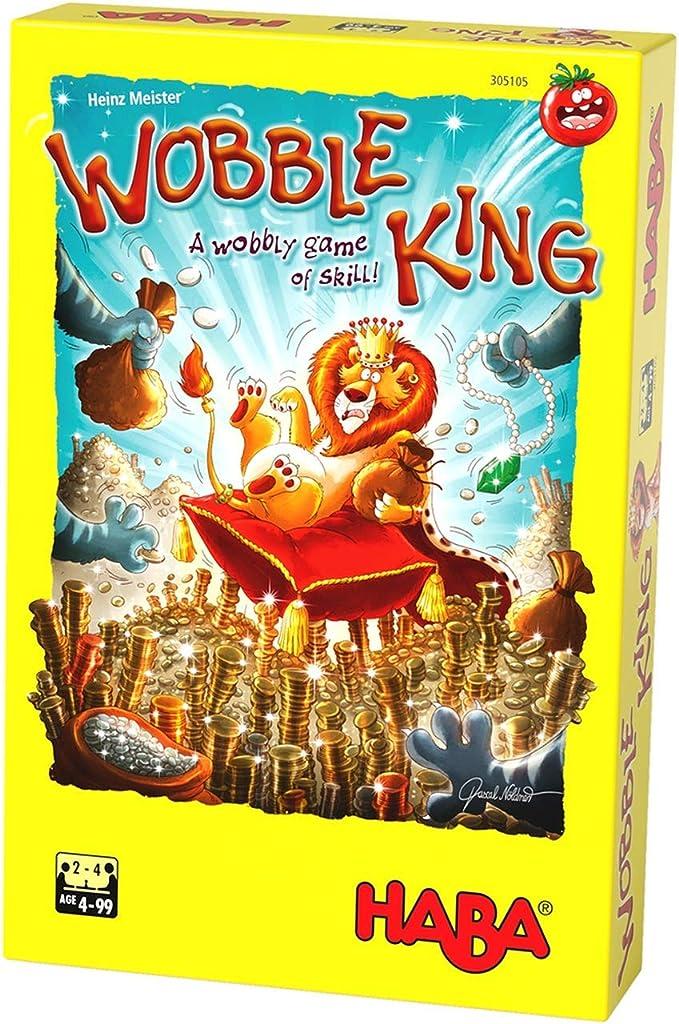 HABA Wobble King – Juego de equilibrio y destreza de ritmo rápido para 2-4 jugadores de 4 años (fabricado en Alemania): Amazon.es: Juguetes y juegos