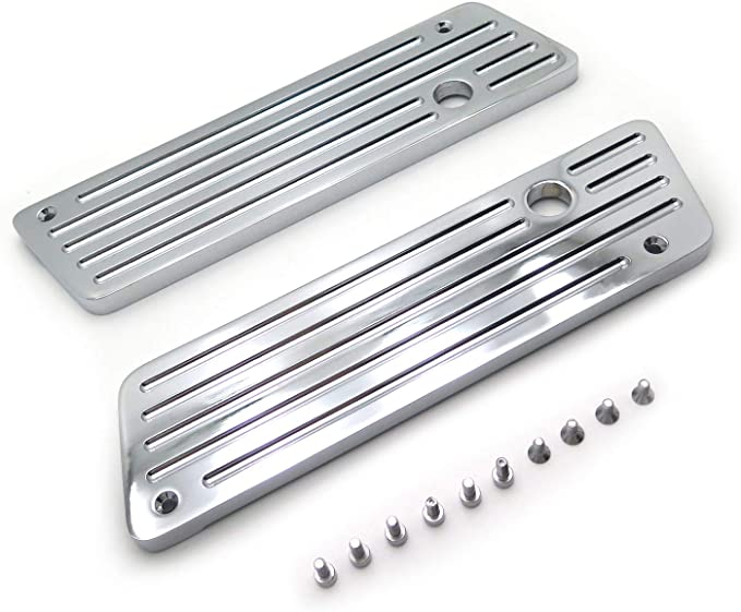 Metal Chrome Saddlebag Latch Covers Compatible with Harley Hard Touring Bags New HTTMT SLC002-D