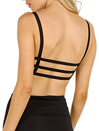 ca74afecef Image Unavailable. Image not available for. Color  Onzie Elastic Sports Bra  Black