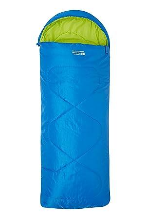 Mountain Warehouse Saco de Dormir Tipo Rectangular pequeño Summit - Saco de Dormir Ligero para niños