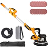 Orion Motor Tech 850W Electric Power Drywall Sander with Vacuum Dust Collector, Swivel Head Extendable Variable 5-Speed…