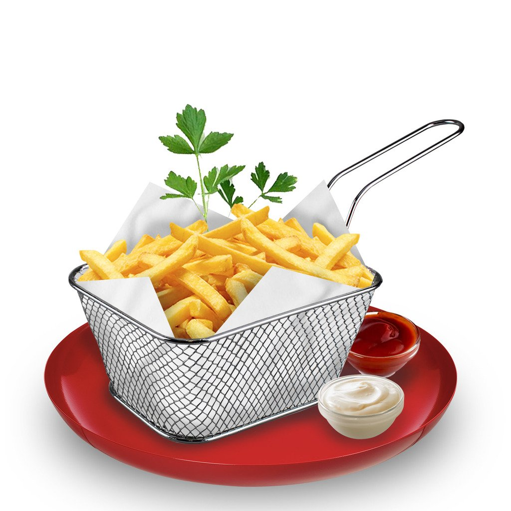 Chips Serving Basket French Fries Potato Veggie Dish Party Restaurant Style Cafe (4) Guaranteed4less