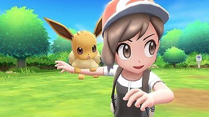 Amazon Com Pokemon Let S Go Eevee Poke Ball Plus Pack