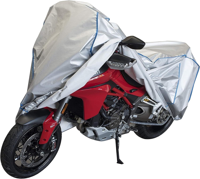 Motorrad Haube Plane Abdeckung atmungsaktiv UV best/ändig kompatibel mit Honda Dylan 125-150 mit Koffer in Silber