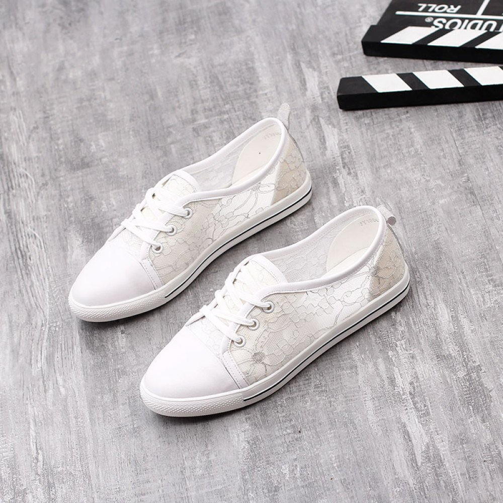 WJP SHU Größe Zhongmei Sommer große Größe SHU Schuhe Flache atmungsaktive Mesh weiß Schuhe Schuhe Frauen bcbe0b