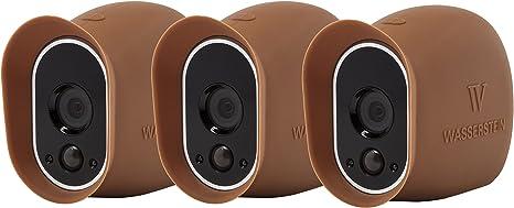 Opinión sobre 3 Fundas de Silicona compatibles con la cámara de Seguridad Arlo Smart Security - Cámaras 100% inalámbricas de Wasserstein (Marrón)