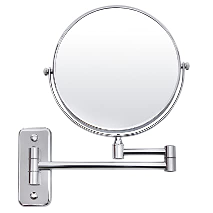 Merveilleux SONGMICS 5x Magnifying Wall Mount Makeup Mirror 8 Inch Two Sided Swivel  Extendable Bathroom Mirror