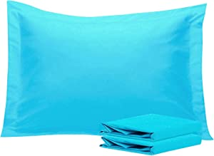NTBAY 100% Brushed Microfiber Standard Pillow Shams Set of 2, Soft and Cozy, Wrinkle, Fade, Stain Resistant, Standard, Blue