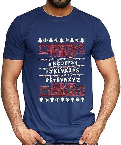 K-Youth Camiseta Hombre Navidad Ropa Adolescentes Chico Invierno Casual T-Shirt Top Camisetas Manga Corta Hombre Deporte Camisas Hombres Talla Grande Chandal Hombre Navideños Blusa: Amazon.es: Ropa y accesorios