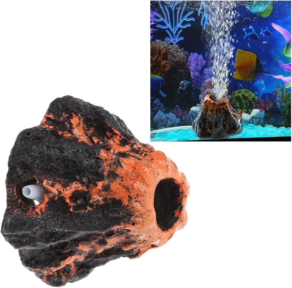 Jiamins Volcano Bubbler Fish Tank Air Bubble Stone Aquarium Ornament Oxygen Pump Air Pump