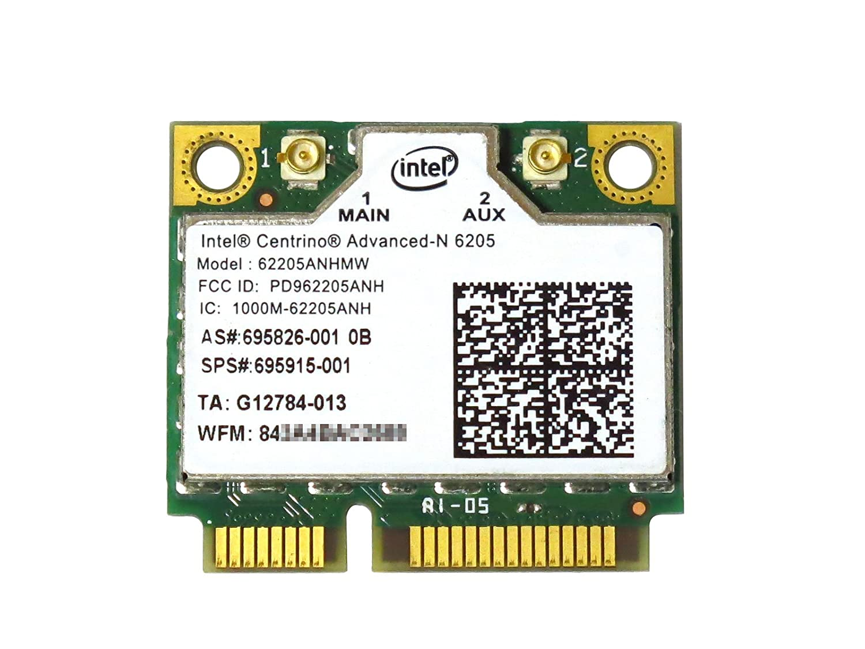 Intel Centrino Advanced N 6205 Wifi Card 62205ANHMW HP # 695826-001 695915-001