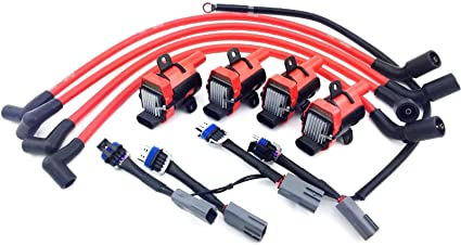 amazon com aftermarket d585 uf262 ignition coil packs mazda 10mm rh amazon com 2004 mazda rx8 power steering wiring harness RX-8 Radio