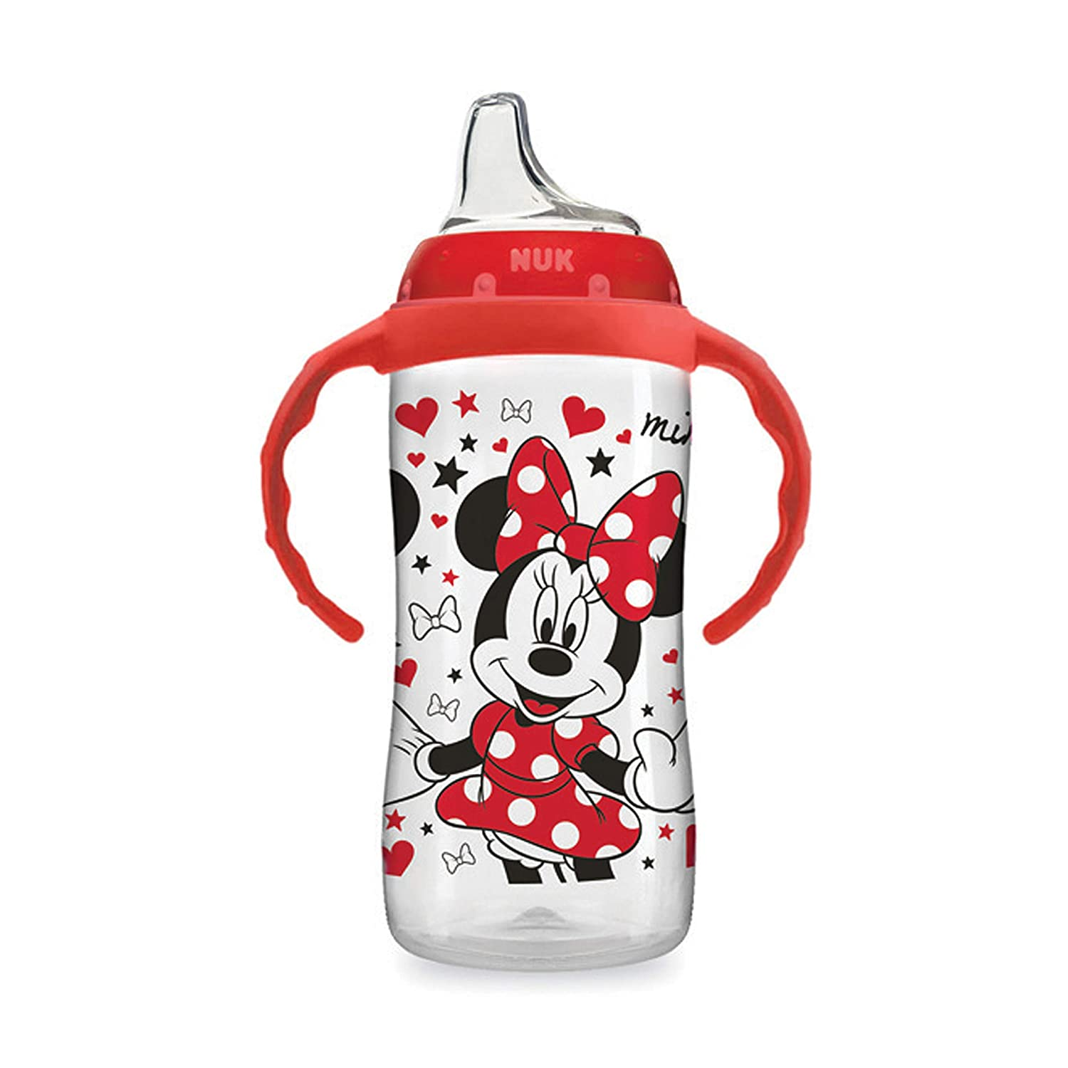 10oz 1pk Minnie Mouse NUK Disney Large Learner Sippy Cup