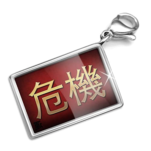 Amazon Clip On Charm Bracelet Set Crisis Chinese Characters