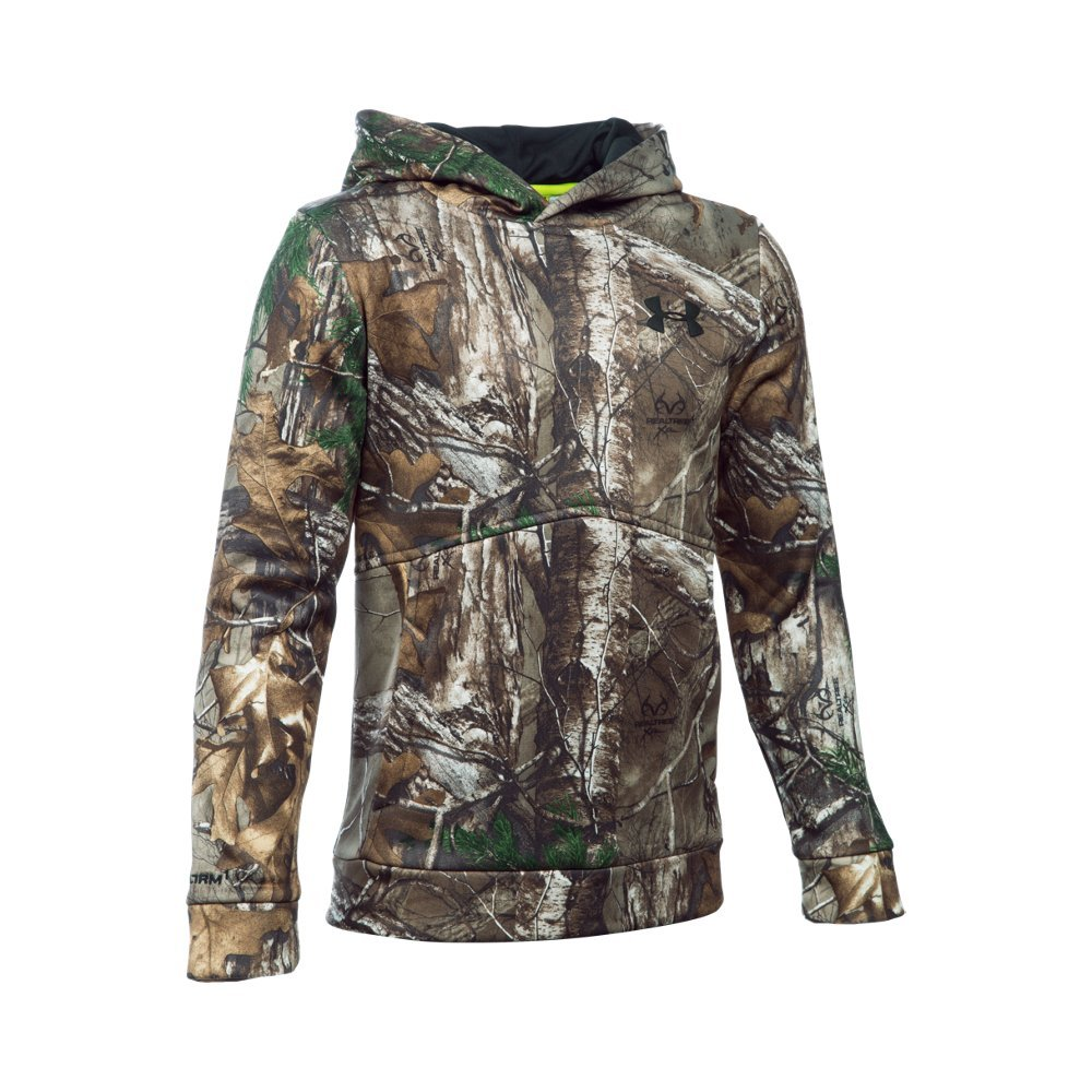 Under Armour Boys' Icon Camo Hoodie, Realtree Ap-Xtra (946), Youth Large