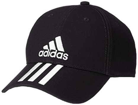 45a5fd3299 Amazon.com: adidas Hat Training Six Panel Classic 3-Stripes Cap ...