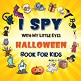 I Spy Halloween Book: A Fun Halloween Activity Book For Preschoolers & Toddlers   Interactive Guessing Game Picture Book…