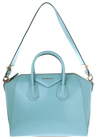 ea86b314a85d Givenchy Women Leather bag Antigona Medium Light blue GIV050  Amazon ...